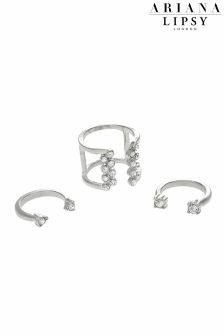Ariana Grande For Lipsy Party Crystal Ring Set