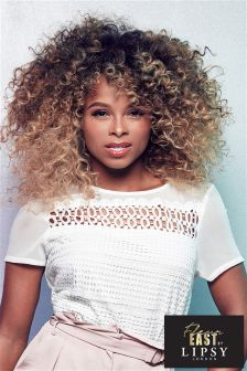 Fleur East For Lipsy Lace Crop Top