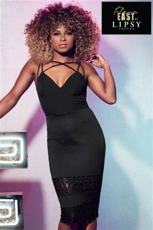 Fleur East By Lipsy Lace Panel Pencil Skirt