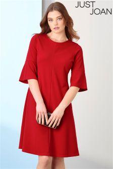 Just Joan Frill Sleeve Swing Dress