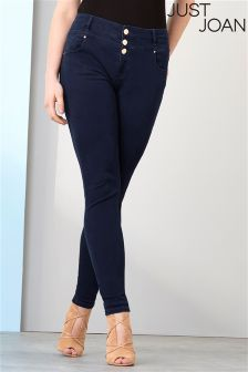 Just Joan Double Waistband Skinny Jeans