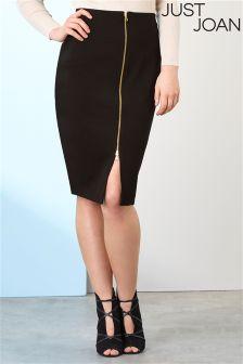 Just Joan Zip Front Pencil Skirt
