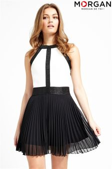 Morgan Pleated Skater Dress