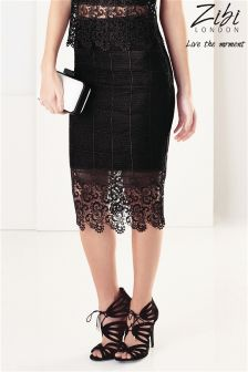 Zibi London Grid Lace Co-ord Skirt