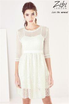 Zibi London Patterned  Lace Dress
