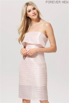 Forever New Tiered Bandeau Midi Dress