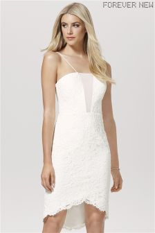 Forever New Dip Hem Strappy Lace Dress