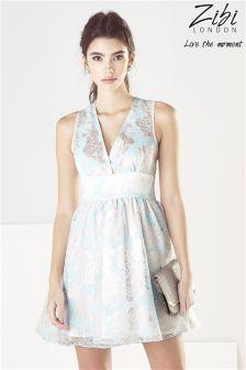 Zibi London Floral Organza Prom Dress