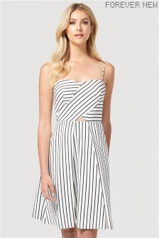Forever New Striped Bandeau Midi Dress