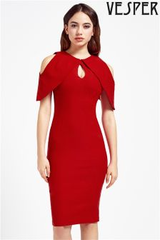 Vesper Cold Shoulder Pencil Dress