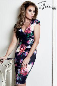 Jessica Wright Floral Print Dress