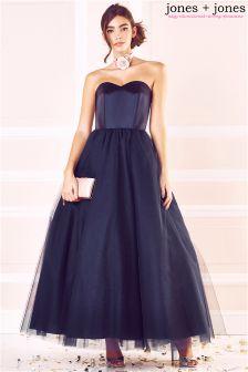 Jones + Jones Tulle Debutant Maxi Dress