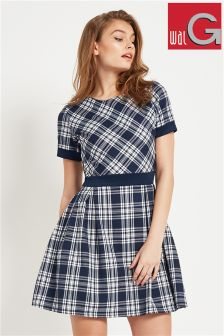 Wal G Check Skater Dress