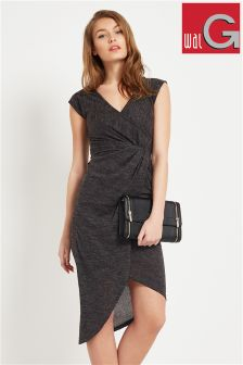Wal G Knitted Side Knot Dress