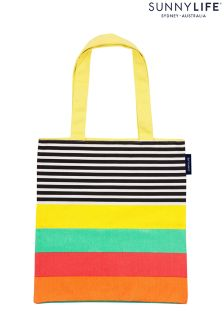 Sunnylife Multi Stipe Canvas Tote Bag