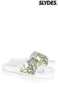 Slydes  Palm Print Flip Flops