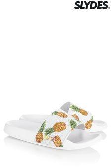 Slydes Pineapple Multi Print Flip Flops