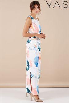 YAS Print Maxi Dress
