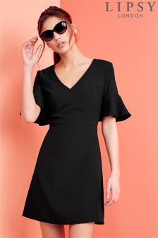 Lipsy Bell Sleeve Shift Dress