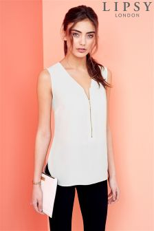 Lipsy Sleeveless Zip Blouse
