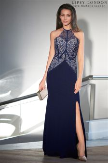 Lipsy Love Michelle Keegan Lace Detail Placement Maxi Dress