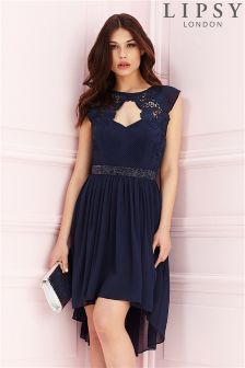 Lipsy Chiffon Embelished Waist Dress