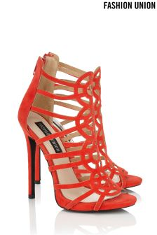 Fashion Union Caged Statement Heels