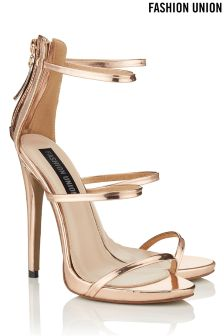 Fashion Union Barely There Multi Strap Heels