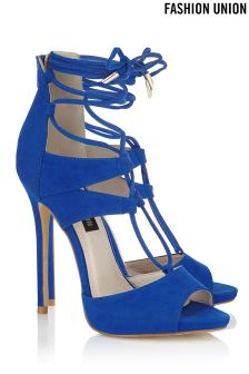 Fashion Union Lace Up  Statement Heels