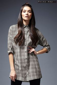 Noisy May Oversize Check Shirt
