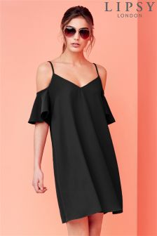 Lipsy Ruffle Off Shoulder Cami Dress