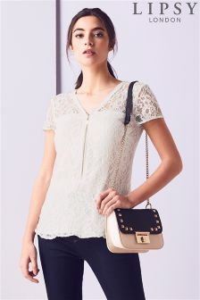 Lipsy All Over Lace Zip Blouse