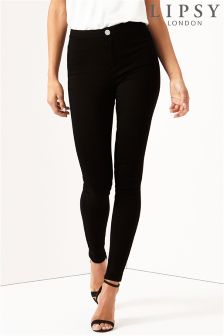 Lipsy High Rise Skinny Black Jean