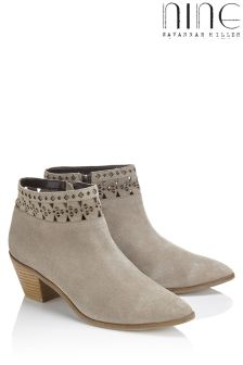 Nine By Savannah Miller Laser Cut Suede Ankle Boot