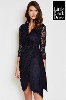 Little Black Dress Wrap Front Dress