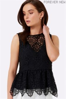 Forever New Diamond Lace Peplum Blouse
