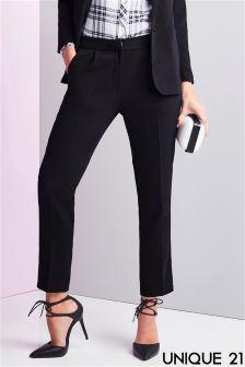 Unique 21 Tailored Mid Rise Cigarette Trousers
