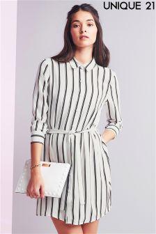 Unique 21 Belted Shirt Dress