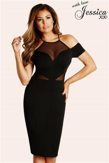 Jessica Wright Off The Shoulder Midi Dress