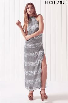 First And I Halterneck Maxi Dress