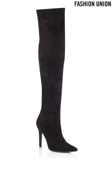 Fashion Union Over The Knee Heeled Boots