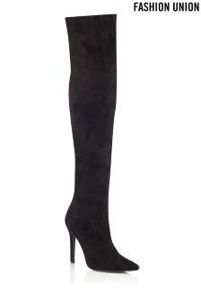 Fashion Union Over The Knee Heeled Boots