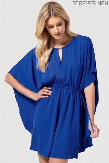 Forever New Drawstring Waist Cape Dress