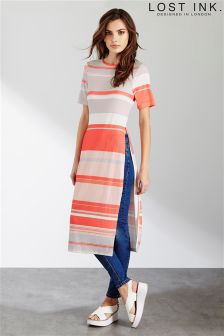 Lost Ink Print Stripe Tunic