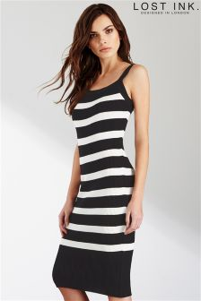 Lost Ink Knitted Stripe Dress