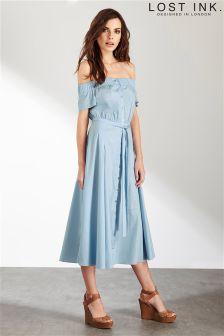 Lost Ink Bardot Dress