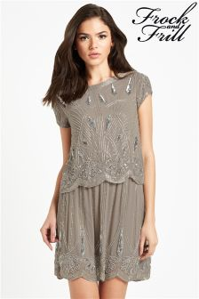 Frock And Frill 2 In 1 Tiered Sequin Dress