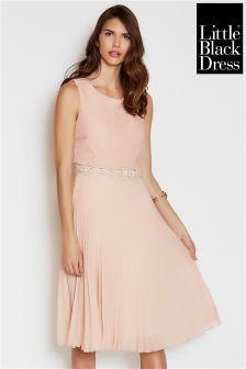 Little Black Dress Midi Pleated Dress