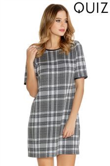 Quiz Check Shift Dress