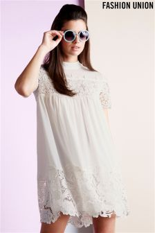 Fashion Union Crochet Trim Dress
